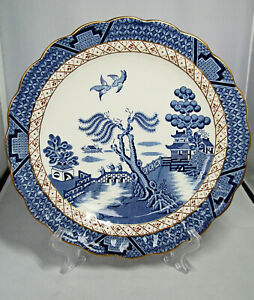 """Vintage BOOTHS """"REAL OLD WILLOW"""" CAKE PLATE, 10""""; A8025. c.1948 -1968"""