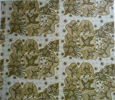 Turtles Olive Australian Aboriginal Fabric Patchwork Sewing Quilting Craft FQ