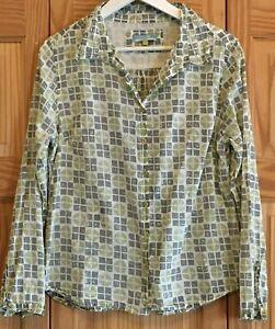 Pretty SEASALT  LARISSA  SHIRT Long Sleeve Blouse Shirt Top Size 14