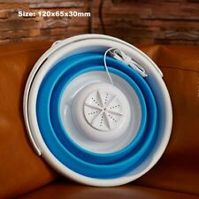 Mini Portable Ultrasonic Turbine Washing Machine Foldable Bucket Type USB Laundr