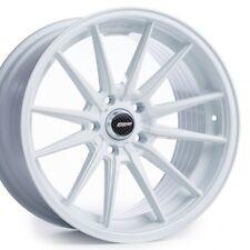 Cosmis Racing R1 18x8.5 +35 5x114.3 White Civic RSX Mazda3 Accord WRX STI TSX TL