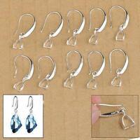 20x Lots 925 Silver Filled DIY Earring Findings Pinch Bale Hook Jewelry Making