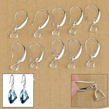 Wholesale 20pcs 925 Silver Filled DIY Earring Findings Pinch Bale Hook Jewelry