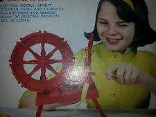 STEVEN'S PIXIE TOYS VINTAGE TOY SPINNING WHEEL COMPLETE AND WORKS