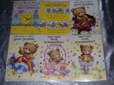 EASTER CARD GREAT GRANDDAUGHTER OR GREAT GRANDSON CUTE CHICKS RABBITS EGGS