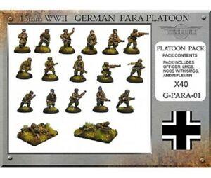 Flames of War German Fallschimjager HUGELOT Unpainted inc 6 snipers total 180