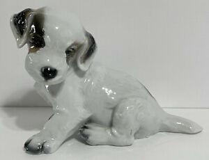Vintage Rosenthal #1121 Terrier Puppy Figurine Karner Older Mark Adorable!