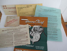 HURON MACHINE & TOOL CO Lathe Grinding Attachment Advertising circa 1949