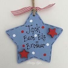 Personalised Best Big Brother Sister Star Keepsake Gift Plaque Handmade