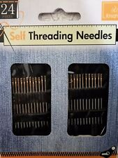 Pack of 24 Self Threading SEWING Needles . VERY EASY TO USE.