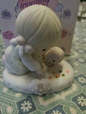 Precious Moments 1995 Growing In Grace Age 8 Girl Shooting Marbles Figurine