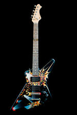 Handpainted Explorer electric guitar Custom build