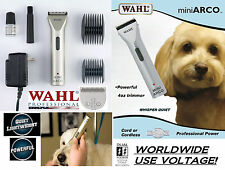 Wahl MINI ARCO Cordless Rechargeable Trimmer/Clipper KIT &Blade,Guide Combs SET
