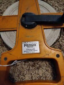 *VINTAGE* Keson Otr-18-100 100 Ft Tape Measure, Heavy use