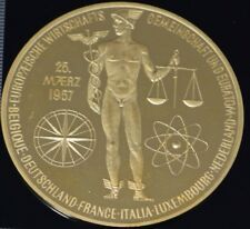 1957 Germany Commemorative Gold Medal European Atomic Engery West German