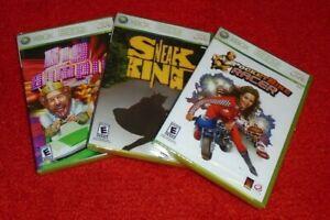 Xbox 360 lot of 3 New Sealed Burger King Games Big Bumpin Pocketbike Sneak King