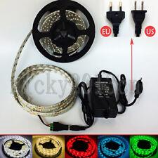 Full Kit 5M 3528 LED Strip Light Tape 300LEDs IP65 Waterproof 12V Power Supply