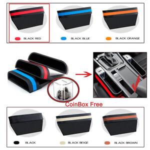 Universal Auto PU&ABS Front Seat Pocket Catcher Storage Organizer +Free Coin Box