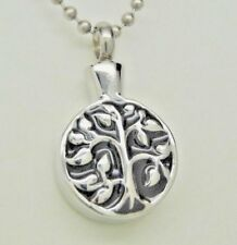 Engraveable Tree Of Life Cremation Urn Necklace in 316L Stainless Steel