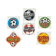 36 Assorted Soccer Sports Fun Kids Temporary Tattoos Party Favors #42/2169