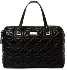 Kate Spade Sedgewick Place Kensey Quilted Shimmer Black Leather Satchel Handbag