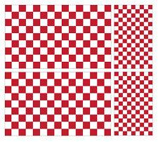 4 x bandiera a scacchi racing Rosso Vinile Auto Furgone iPad Laptop Adesivo