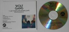 Wolf Gang  Lay Your Love Down   U.S. promo cd