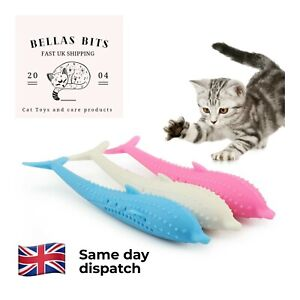 Cat Kitten Fish Toothbrush Catnip Flavour Durable Molar Stick Teeth Cleaner Toy