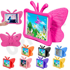 Kids Shockproof Heavy Duty 3D Butterfly Tough Case Cover For iPad 8th 7th Gen