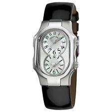 Philip Stein Women's Signature Shiny Black Leather Strap Quartz Watch 1NFMOPLB