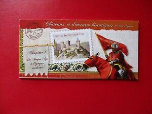 """Timbres- France-Autoadhésifs-""""Châteaux""""-Carnet-BC714-12 timbres-N**-Cote:27,60€."""
