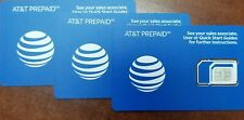 LOT 500 AT&T SIM OEM NANO 4G LTE sim card NEW UNACTIVATE, TRIPLE CUT sku6661a