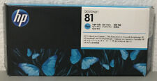 Genuine HP 81 Light Cyan Printhead & Cleaner C4954A-Factory Sealed-Dated 08/18