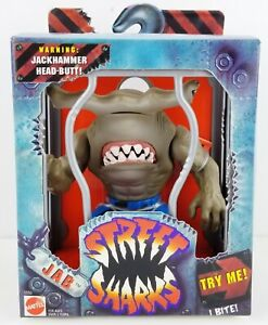 Street Sharks Jab Jackhammer Head-Butt! I Bite! 1994 Mattel No. 12253 NRFB