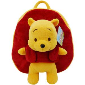 Genuine Disney Backpack Schoolbag Plush Cotton Stuffed Doll Winnie The Pooh 27cm