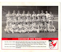 1959 ROCHESTER RED WINGS TEAM 8X10 PHOTO EASTER SMITH  BASEBALL NEW YORK