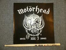 Motorhead Mikkey Dee Concert Thrown Signature Tour Drumstick & 2005 Tour Book