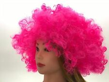 Afro Wig Pink Football Fan Supporter Beehive Marge Simpson Halloween Fairy Tale