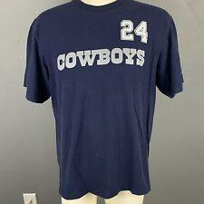 Dallas Cowboys Mens Blue Team Apparel Barber 24 Crew Neck T-Shirt Size XL