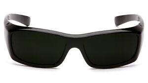 Pyramex Emerge IR5 Welding/Brazing/Cutting Black Super Dark Safety Glasses Z87+
