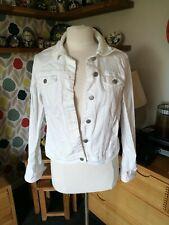 Dorothy Perkins Size 12 White Denim Jacket
