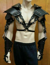 Men's Real Leather Shoulder Harness Larp Body Armour | Body Leather