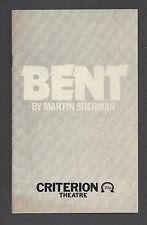 "Ian McKellan ""BENT"" Tom Bell / Nazi Persecution Homosexuals 1979 London Playbill"