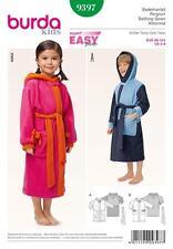 BURDA SEWING PATTERN SUPER EASY KIDS Children's Hooded Bath Robe  9397