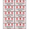 No Smoking Eating Drinking in This Vehicle Signs Sticker Car Van Bus Vinyl Decal