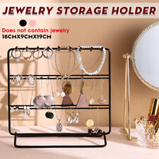 Jewelry Earring Necklace Ring Organizer Stand Storage Hook Holder Display Shelf