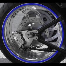 "2x Motorcycle Rim Tape Reflective Bike Wheel Stickers Stripes Decals 17"" inch"