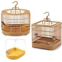 Bird Feeding Cage Carrier Nest Hanging House for Budgie Parrot Travel Portable