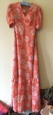 Vintage 70s Vera Mont Paris Prairie Cottagecore Maxi Dress VCG Size 8-10
