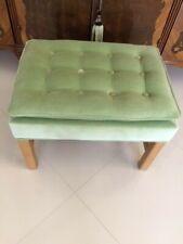 Sensational Green Wood Ottomans Footstools Poufs For Sale Ebay Ibusinesslaw Wood Chair Design Ideas Ibusinesslaworg